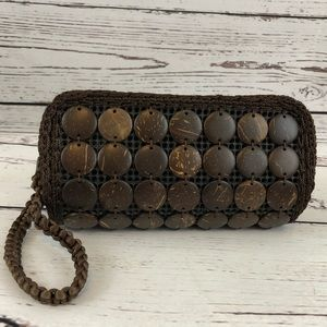 Handcrafted coconut shell Clutch